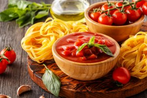 pasta and sauce options